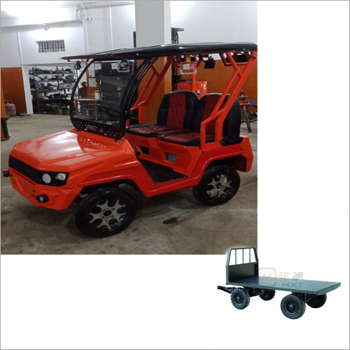 Electric Car 2 Seater Cum Tow Truck Capacity 500 Kgs