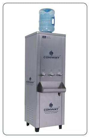 CONWAY BWD 100 STAINLESS STEEL COMMERCIAL BOTTLE WATER DISPENSER - NORMAL, HOT & COLD