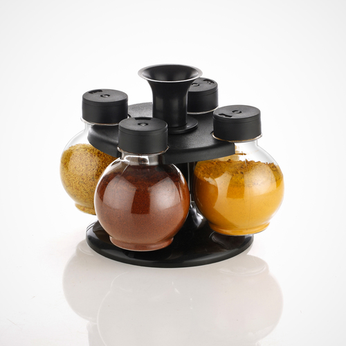 Premium Multipurpose Revolving Plastic Spice Rack Masala Rack Masala Organiser - 4 Pcs Set