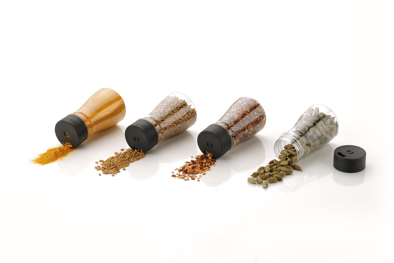 Premium Multipurpose Revolving Plastic Spice Rack Masala Rack Masala Organiser - 6 Pcs Set