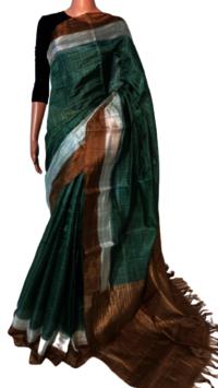 Ladies Tussar Pallu Saree