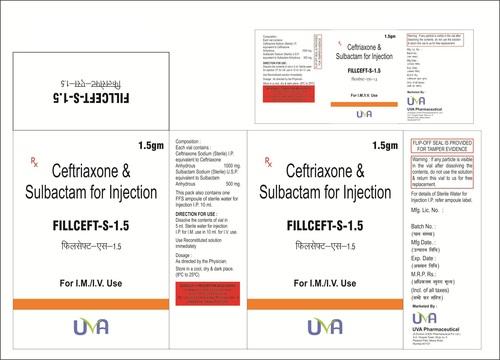 Fillceft-S-1.5gm (Ceftriaxone + Sulbactum)