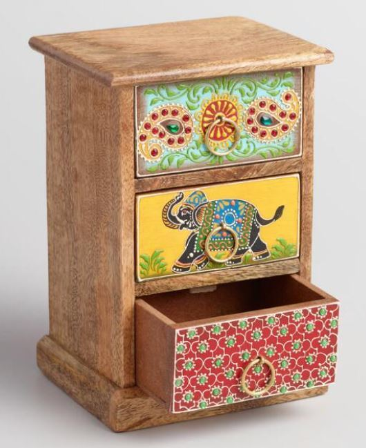 Wooden Handicraft Storage Unit Small Handmade