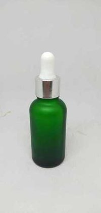 Cosmetic Green Glass Bottle