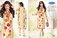 Shopping Season Designer Cotton Printed Kurti
