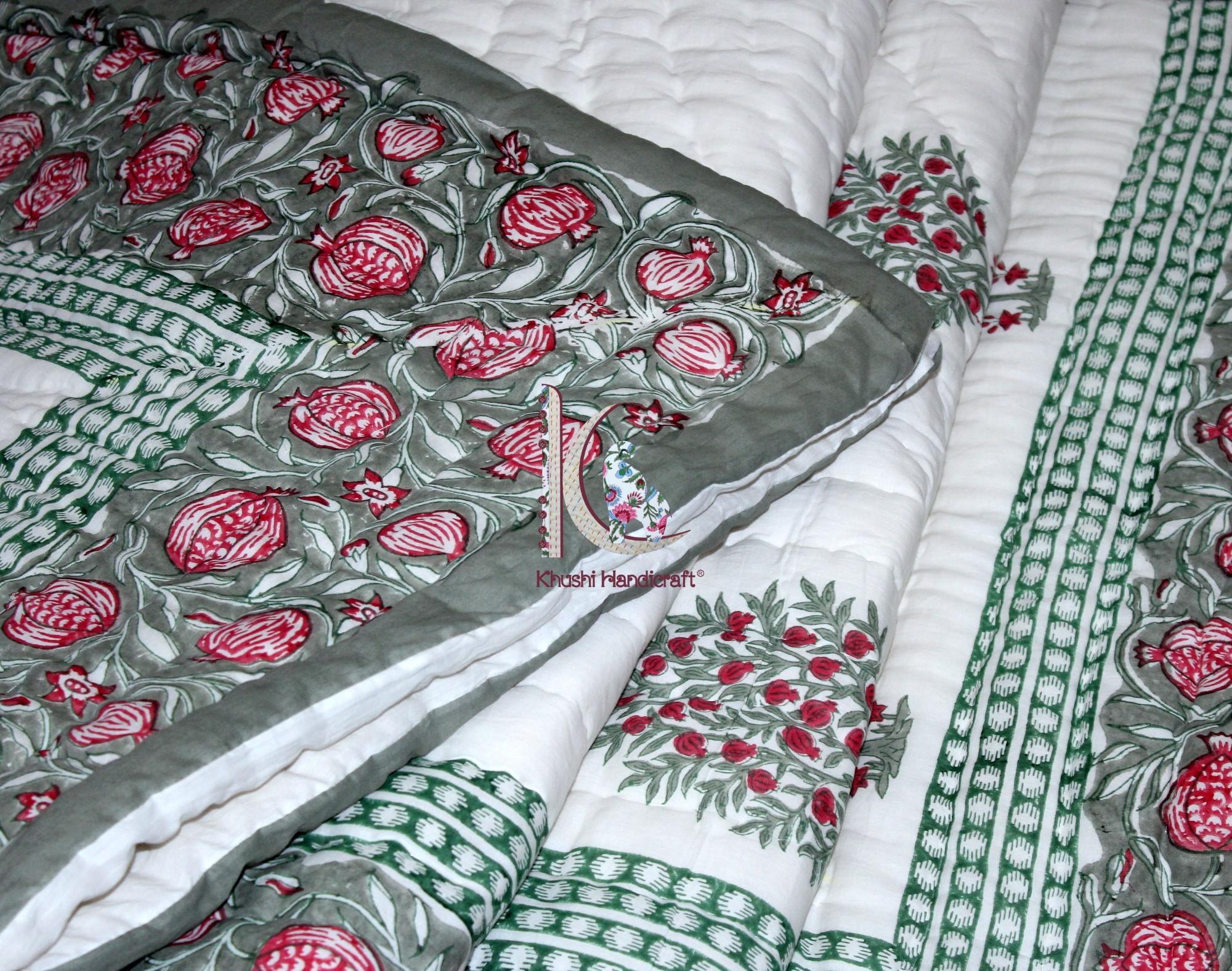 Hand Block Printed Jaipuri Razai