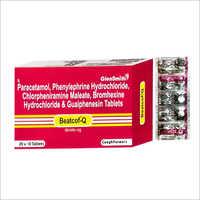 Paracetamol Phenylepherine Hydrochloride Chlorpheniramine Maleate Bromhexine Hydrochloride And Guaiphenesin Tablets