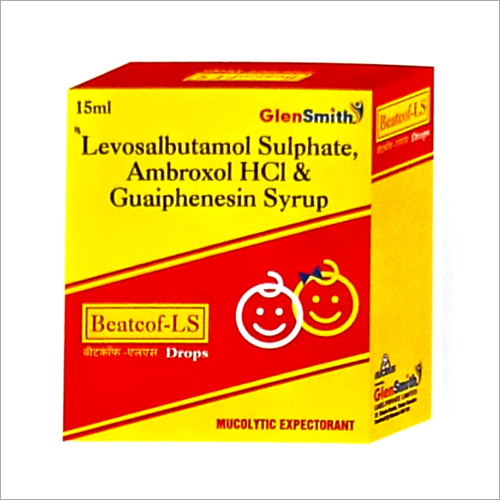 15 ML Levosalbutamol Sulphate Ambroxol HCl And Guaiphenesin Syrup