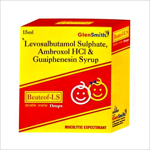 Levosalbutamol Sulphate Ambroxol HCl And Guaiphenesin Syrup