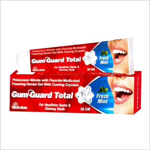 50gm Potassium Nitrate With Fluoride Medicates Foaming Dental Toothpaste