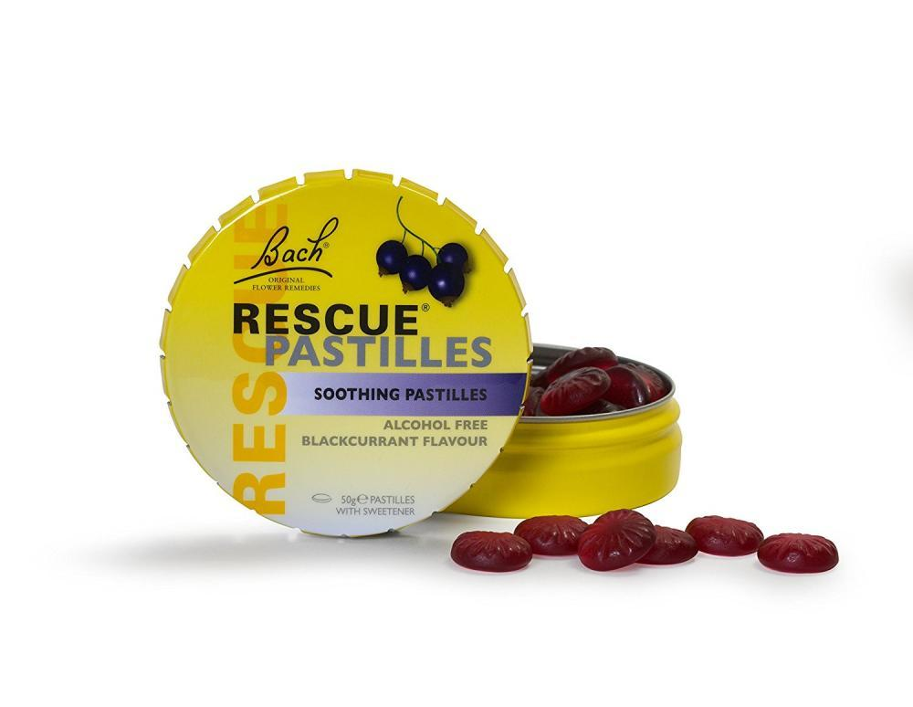Bach Rescue Pastilles Blackcurrant - 50grescue Pastilles, Homeopathic Stress Relief, Natura