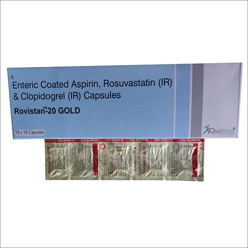 Enteric Coated Aspirin Rosuvastatin (IR) and Clopidogrel (IR) Capsules