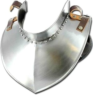 Medieval Armour Collar Steel Gorget Leather Strap