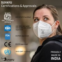 Suvayu SV8000 ISI Approved (IS-9473) FFP-1 Air Pollution Mask - Yellow
