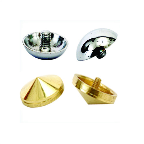Brass Cover Mirror Caps With Tapped Screws