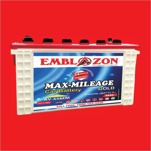 65Ah Max Mileage Car Battery