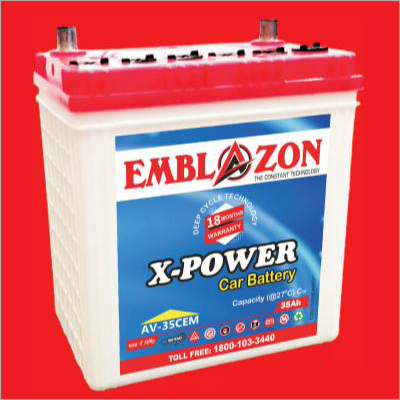 35 Ah AV-35TCEM Emblazon X-Power Car Battery