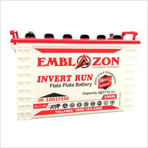 100AH Invert Plate Battery