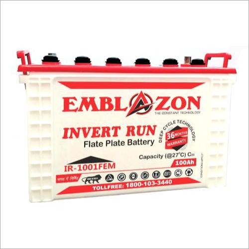 100AH Invert Run Flate Plate Battery