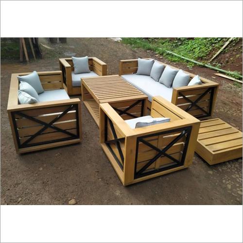 Patio Wooden Sofa Set