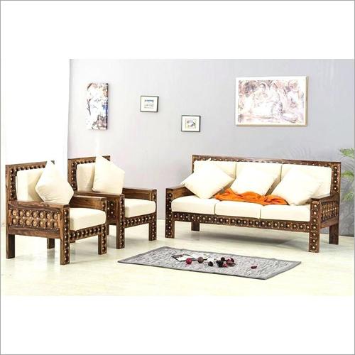 Teak Wood Five Seater Sofa