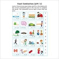 Kids Class 1 English Verbs Practice Workbook