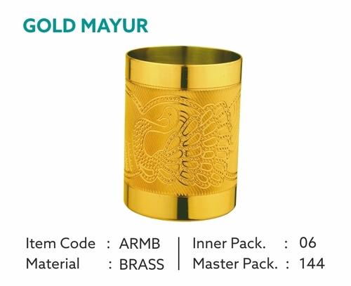 Golden Brass Glass