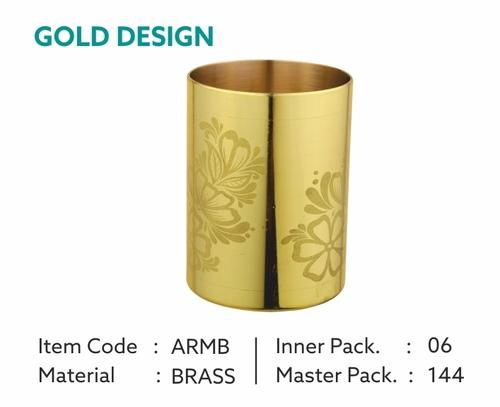 Designer Brass Glass