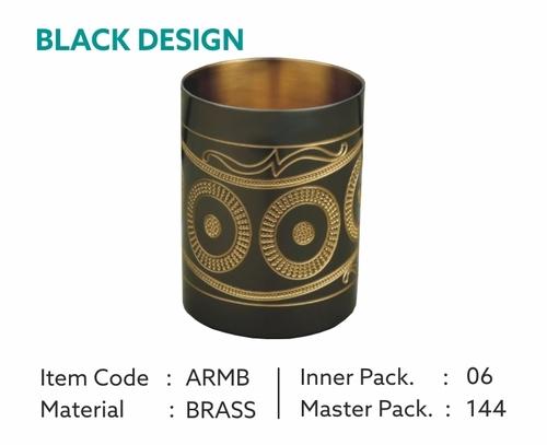 Black Brass Glass