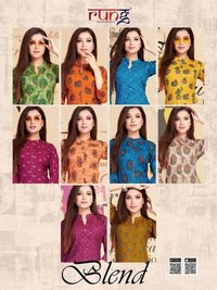 Bland Wholesale Rayon Printed Kurti Set