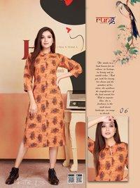Bland Wholesale Rayon Printed Kurti Set