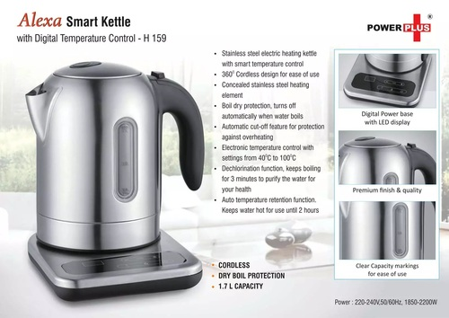 Alexa: Smart SS Kettle With Digital Temperature Control