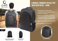Criss Cross Full Pu Backpack