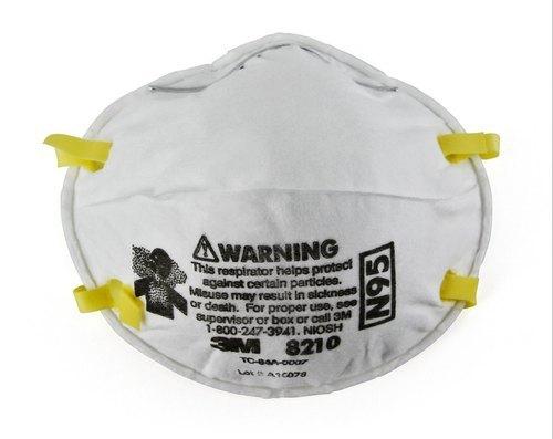 3M N95 Mask - Particulate Respirator 8210, 160 EA/Case, NIOSH approved.