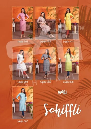 Schiffli Vol-1 Wholesale Designer Kurti Set