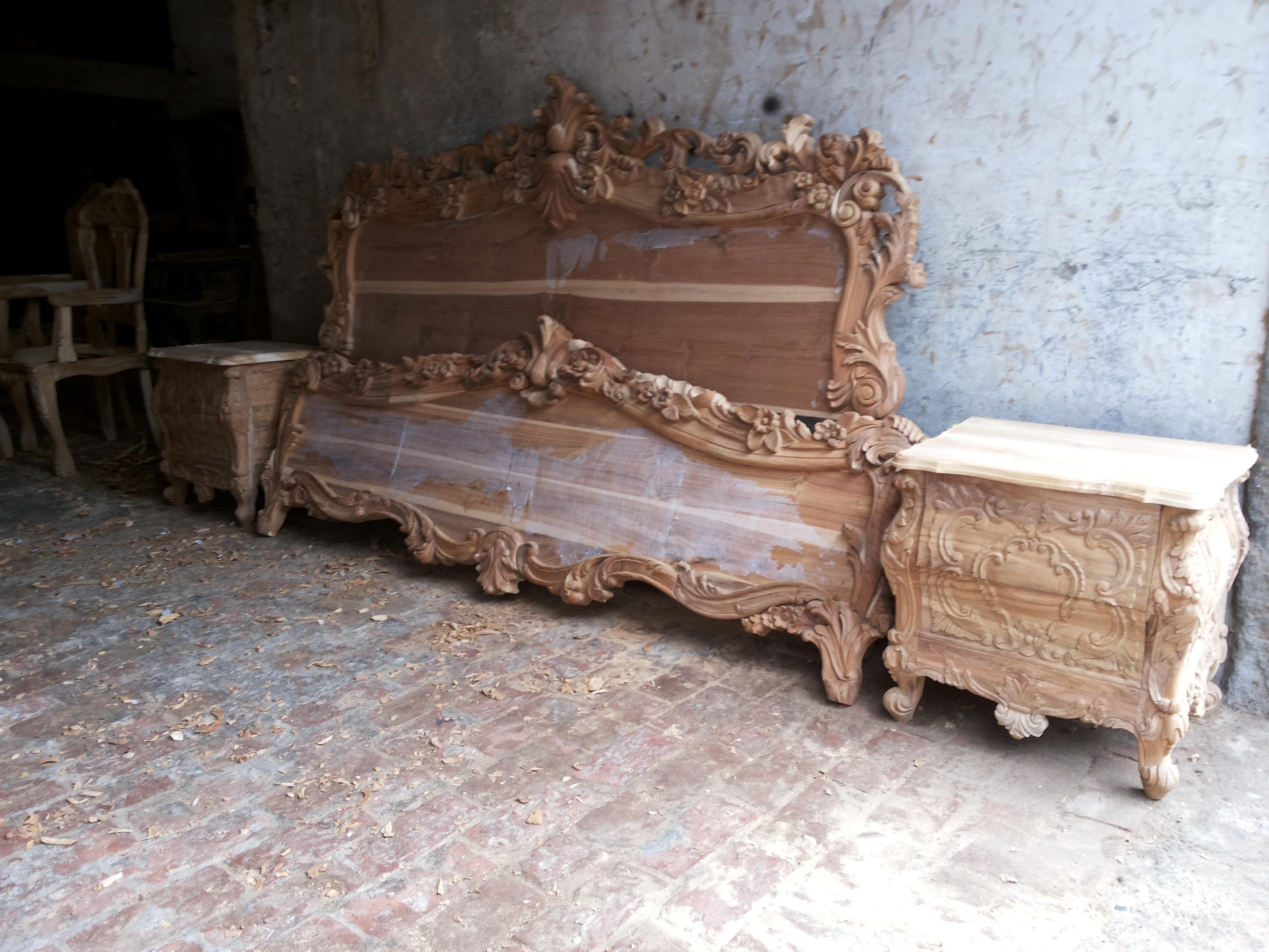 antique wooden bed