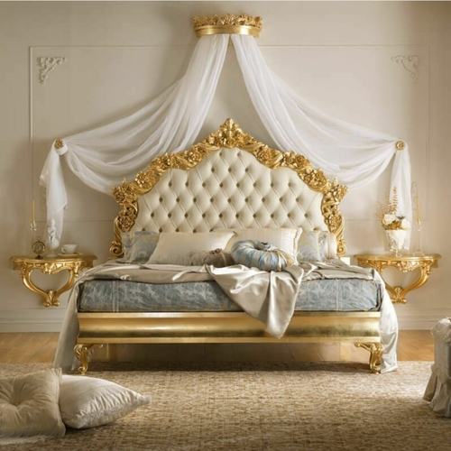 handmade wooden bed set