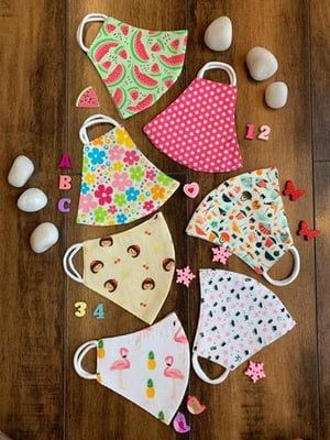 Cotton Printed Kids Face Mask 0001