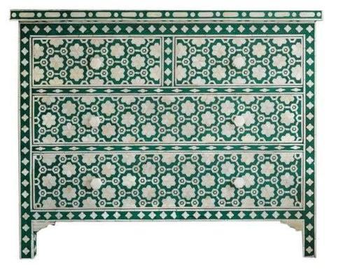 Bone Inlay 3 Drawer Sideboard