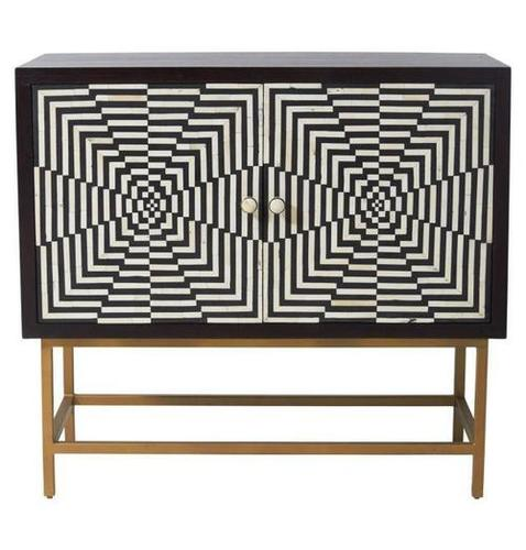 Bone Inlay Sideboard with Table