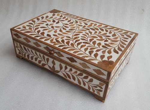 Bone Inlay Brown Box
