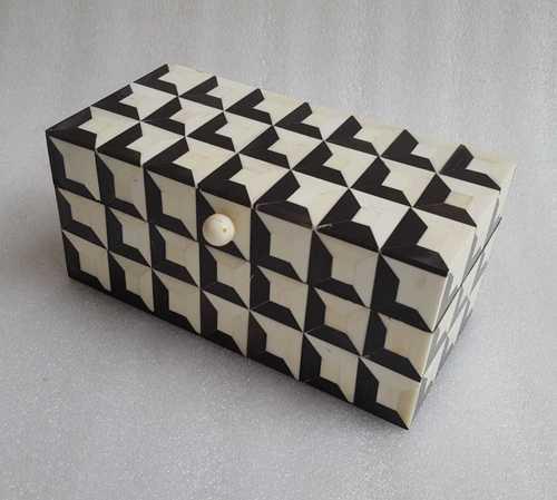Bone Inlay White And Black Box