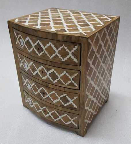 Bone Inlay 3 Drawer Box