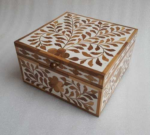 Bone Inlay Tiny Box