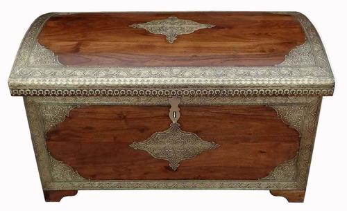 Wooden Brass Fitted trunk box