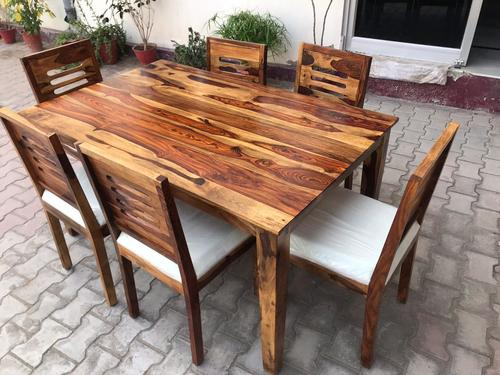 Solid Sheesham Wood Dining Table
