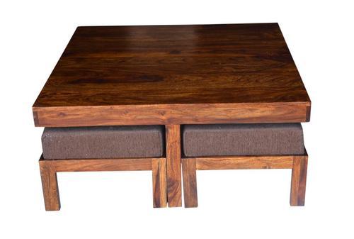 Solid Sheesham Wood Adjustable Table