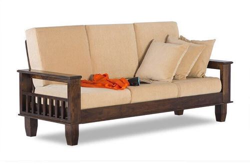 Sheesham Wood three seater sofa