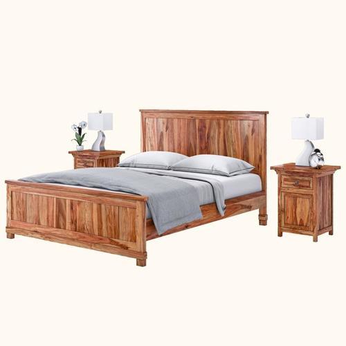 Sheesham Wood Modern Bed