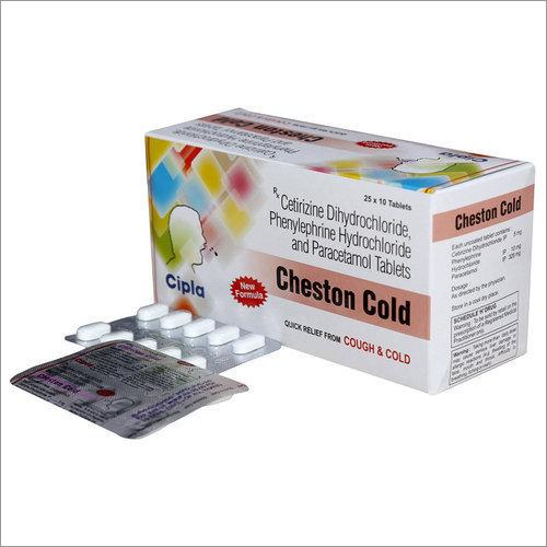 Cetirizine Dihydrochloride - Phenylephrine Hydrochloride And Paracetamol Tablets